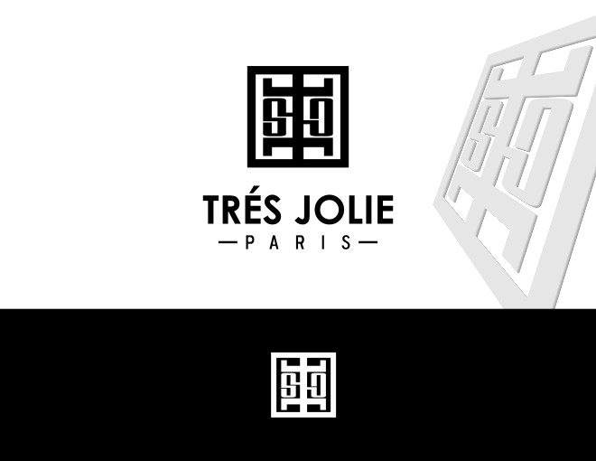 Create the luxurious logo for Tres Jolie