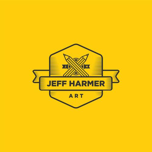 Vintage logo for Jeff Harmer Art