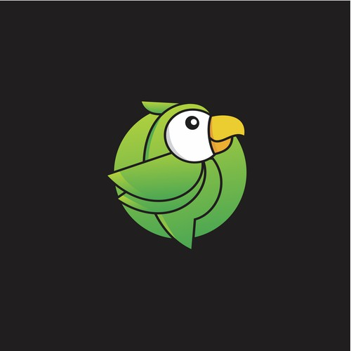 An impressive parrot logo for a language company in Tokyo