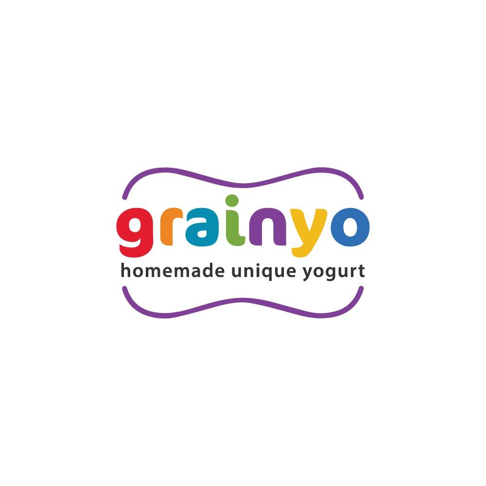 """homemade yogurt named """"GRAINYO"""" design brand identity"""