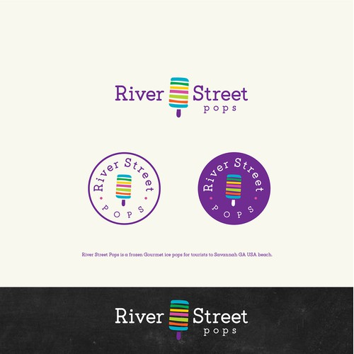 Logo for River Street Pops
