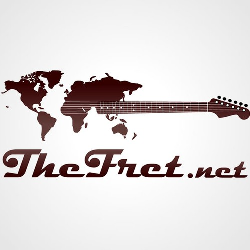 High Traffic GUITAR Website needs CLASSY logo