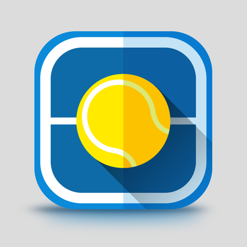Simple Tennis Court Playbook App Icon