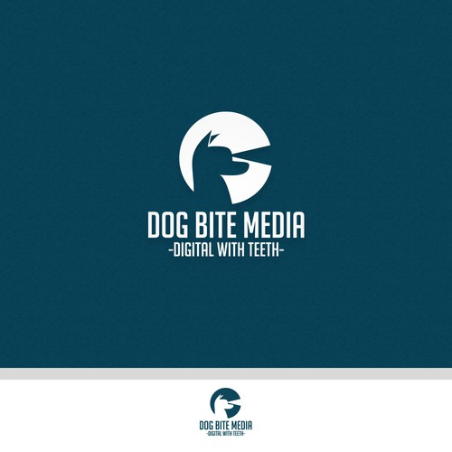 Create a simple, clean, effective logo and website for Dog Bite Media ('Digital With Teeth')