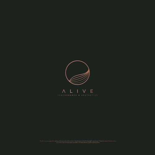 Logo for Alive, performance & aesthetics