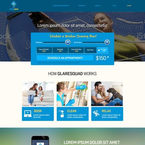 web design concept for GlareSquad
