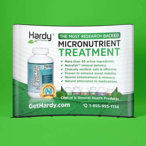 Dynamic trade show booth for Hardy Nutritionals