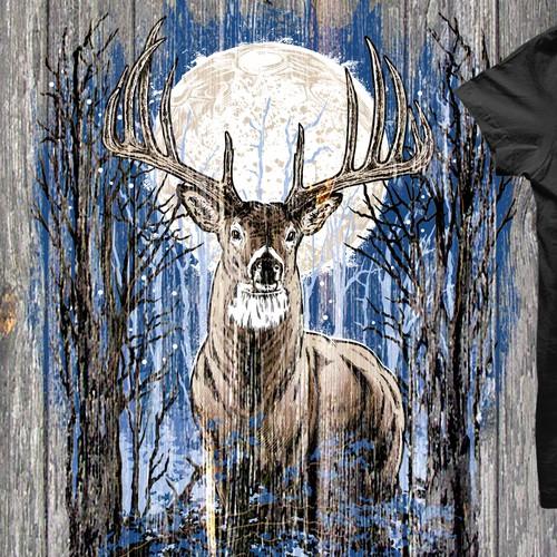 Deer hand drawn t-shirt