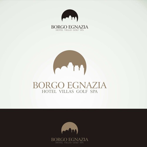 Modern but elegant logo for luxury resort in Italy