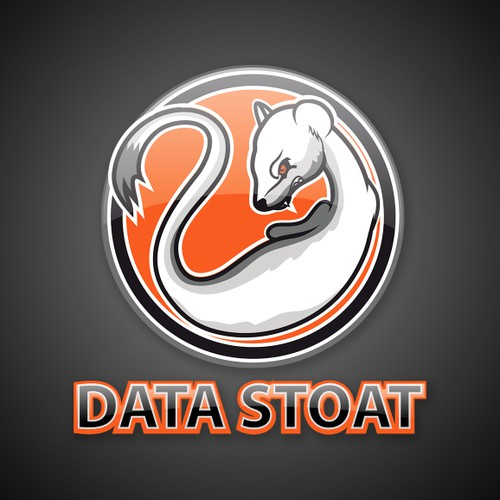 "Create the ""Data Stoat"" brand mascot, for big data analytics"