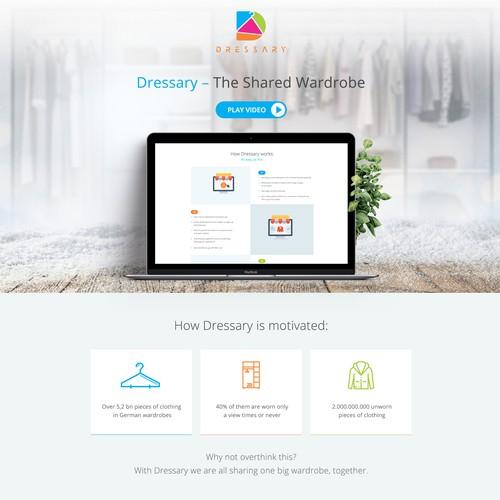 Landing Page for Biggest Wardrobe - Sharing Platform