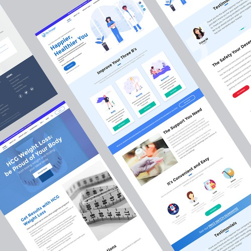 Homepage Futuristic online medical company