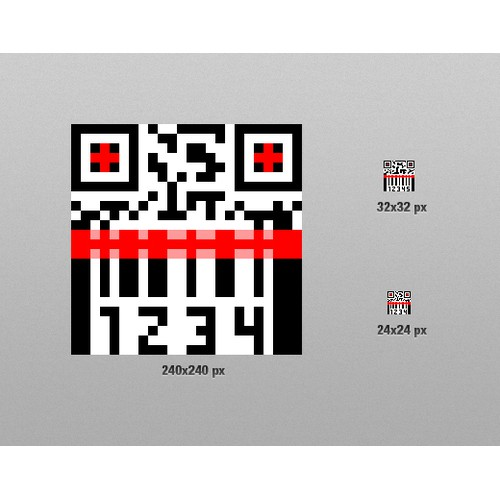 QR Code & Barcode Scanner - Small 24x24 Icon Design for Vela