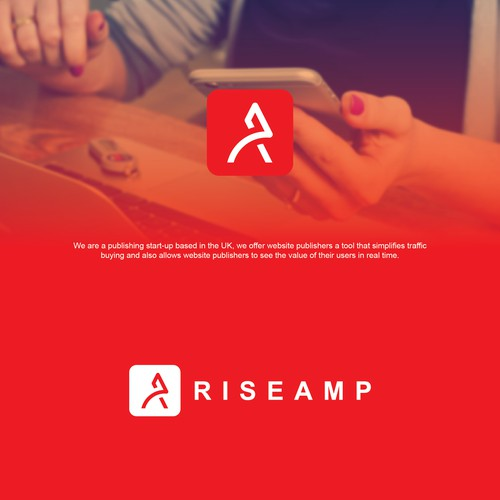 logo concept for riseamp