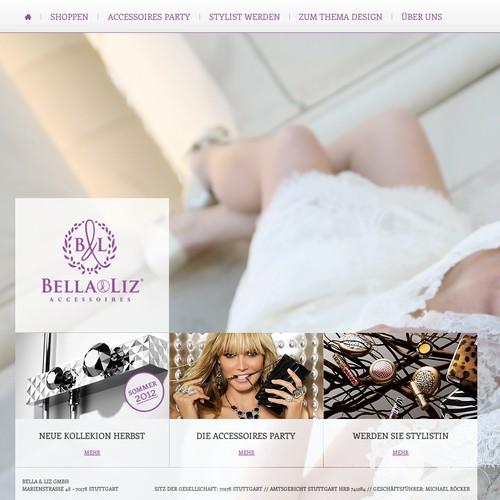 Stylish accessories brand Bella & Liz needs a new website design