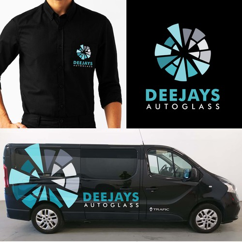 logo design for:DEEJAYS AUTOGLASS