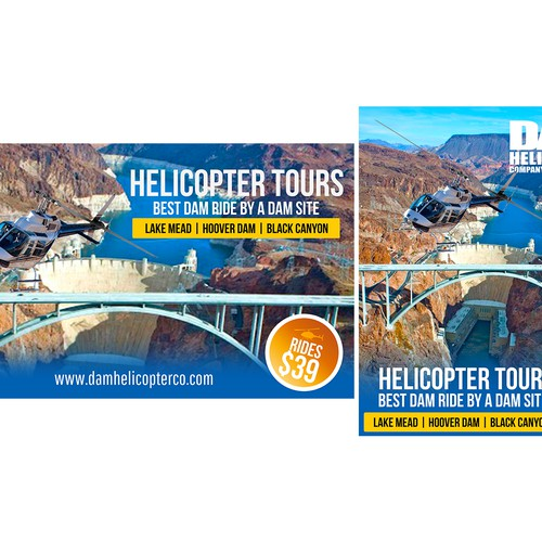 We're looking for a creative, eye-catching design for our Helicopter Tour Company!