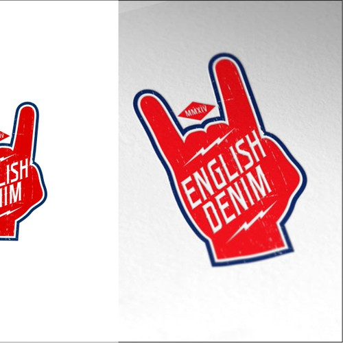 Rocker style Logo for English Denim