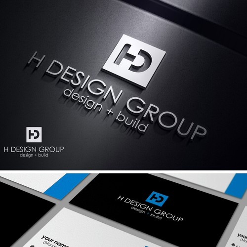 Create a Modern and Luxurious logo and business card for H Design Group