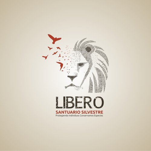 "Logo for Wildlife Sanctuary: ""L i b e r o  santuario silvestre"""