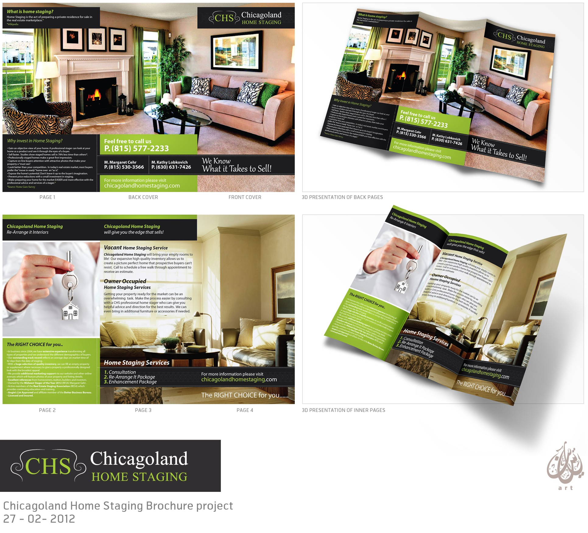 Brochure wanted for Chicagoland Home Staging