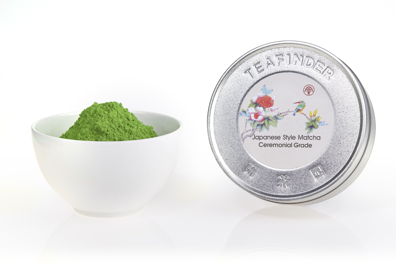 Adjust color of matcha tea powder