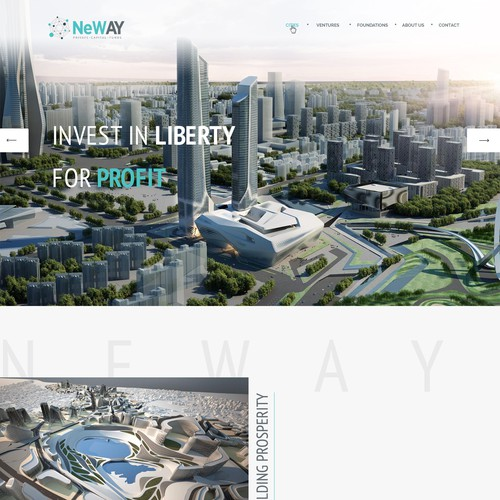 Website design for urban planning company