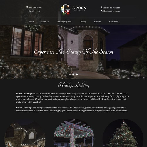 Landing Page - Holiday Lighting By Groen Landscape