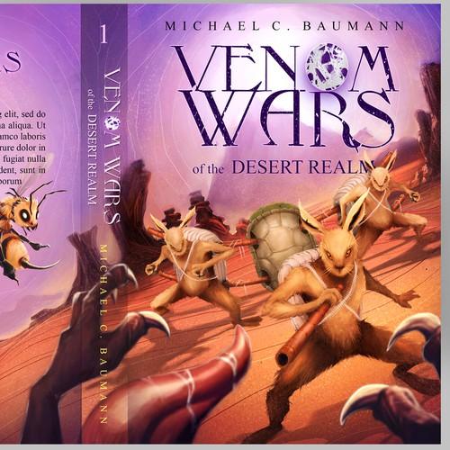 Entry for Venom Wars Book cover illustration design