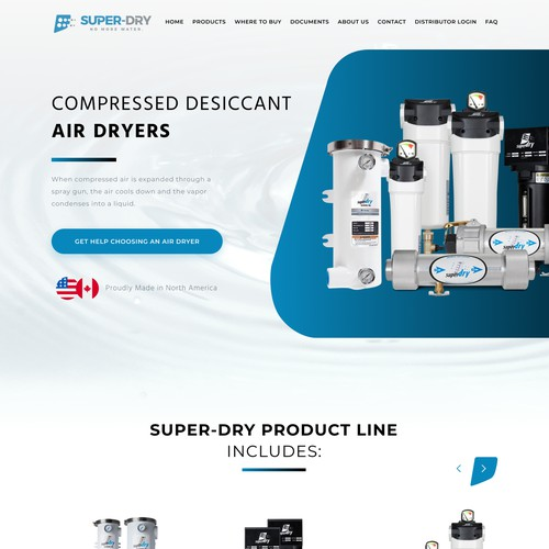 website for a compressed air dryers manufacturer