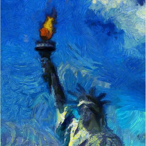 Statue of Liberty Van Gogh Style