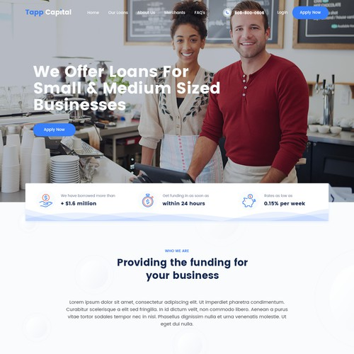 Small Business Financial Loan Website