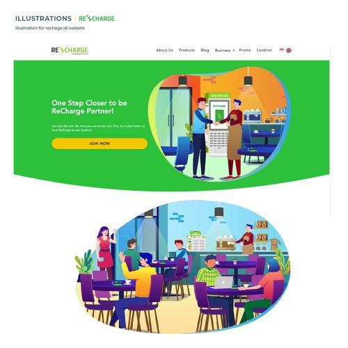 Recharge Website Illustration