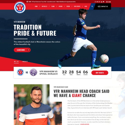 Redesign of a Soccer Club Website