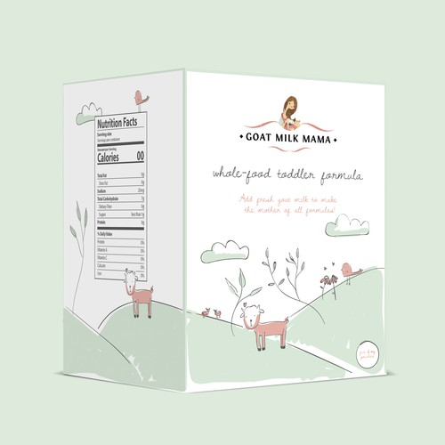 Design boho-inspired box for natural baby product