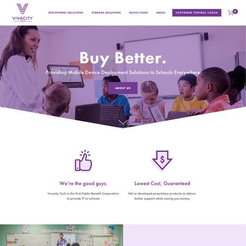 Vivacity Tech | Website for a Technology Wholesaler