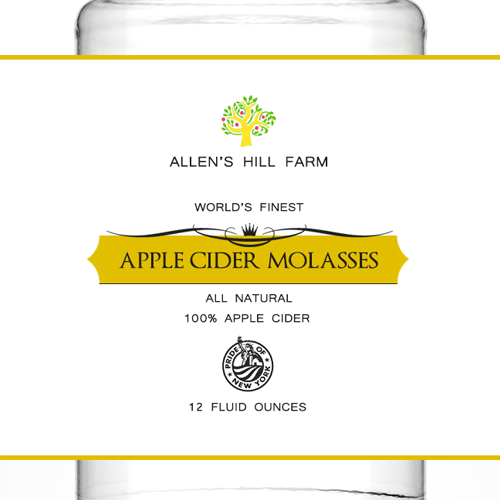 Apple Cider Molasses label