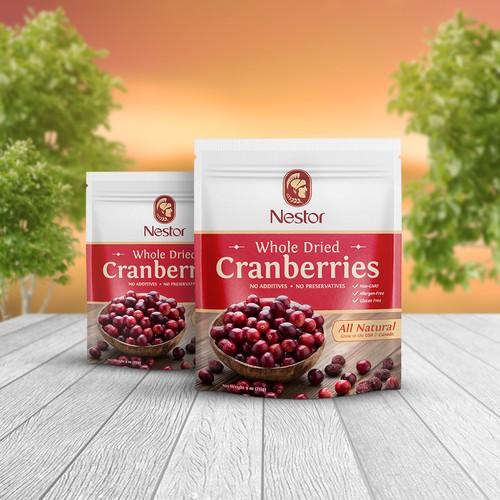 Premium dried berries package
