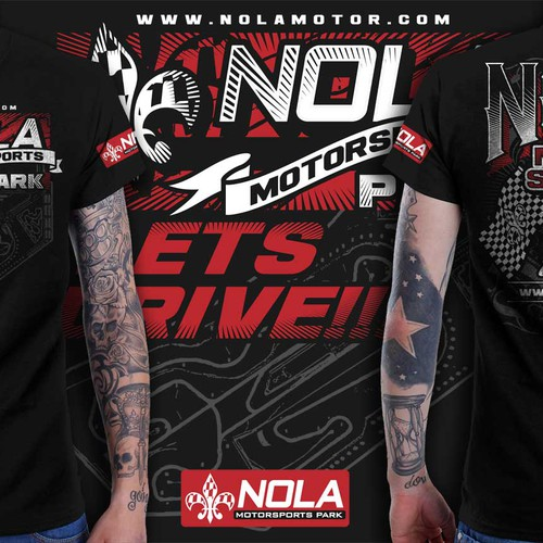 T-shirt design for NOLA Motorsports Park!