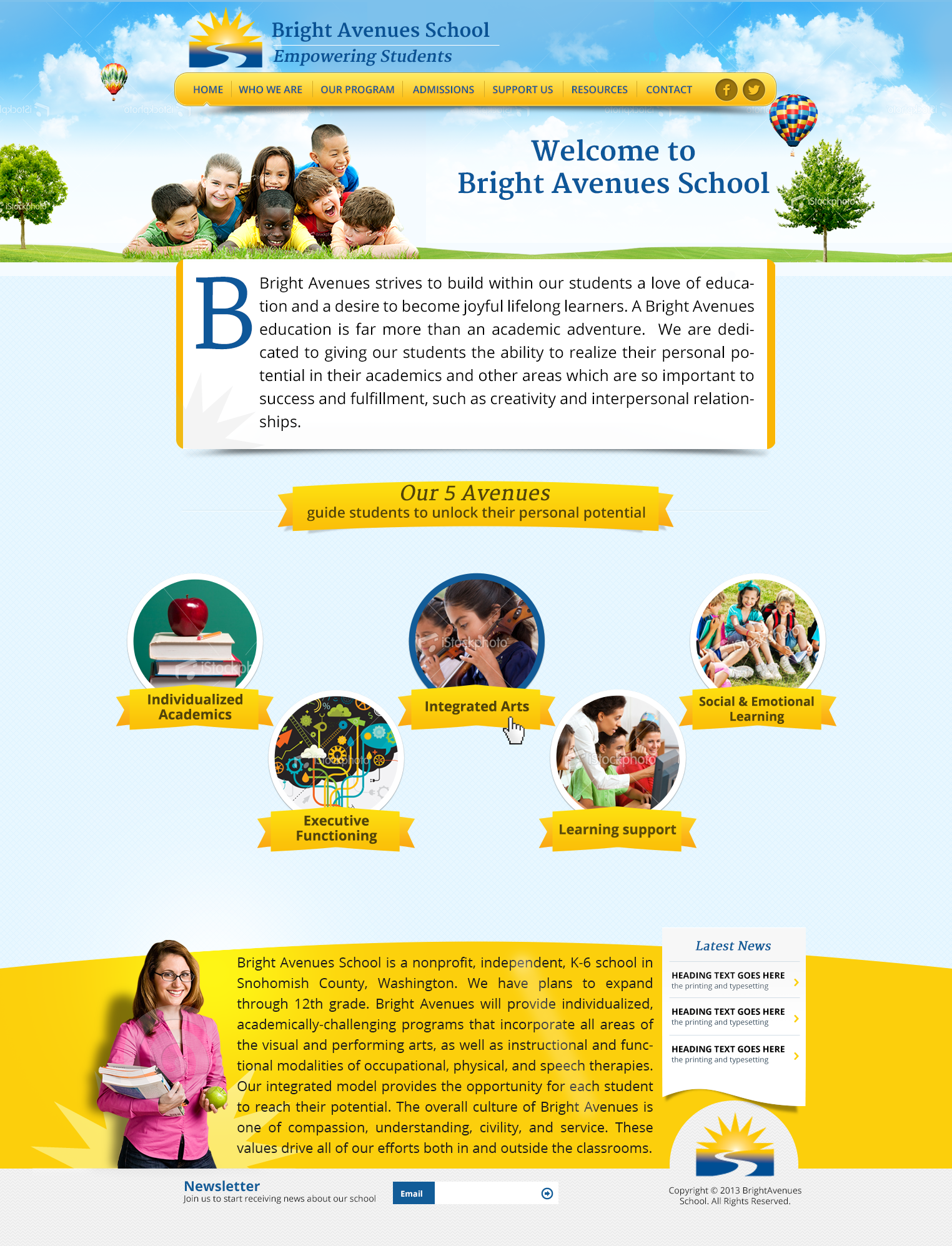 FUN & Exciting CUTTING EDGE school needs equally SPECTACULAR website