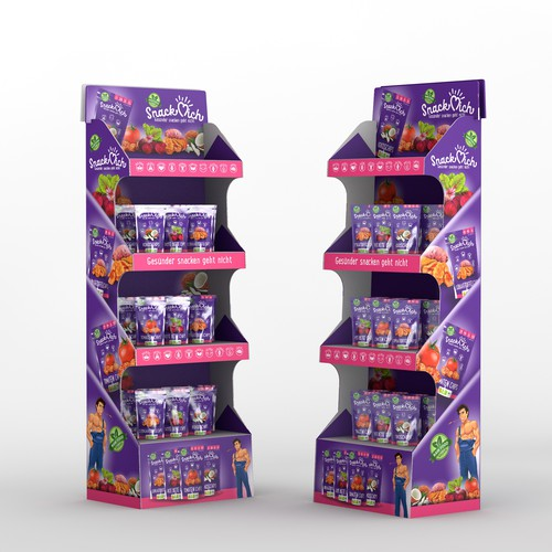Snack Mich POS display full wrap