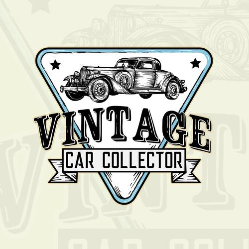 logo concept for vintage car collector