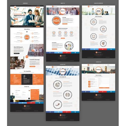 Web design for KGS Research