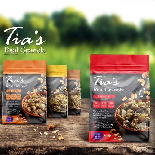 Real Granola packaging Design