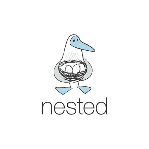 "Blue-Footed Booby logo for ""nested"""
