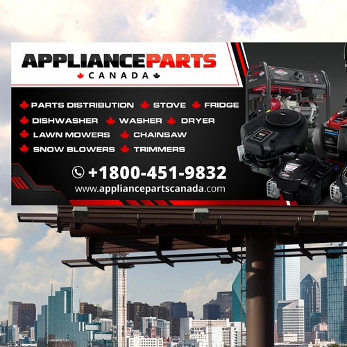 Appliance Parts Billboard