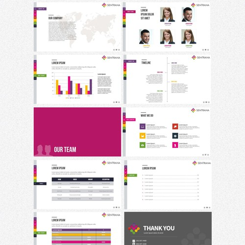 Business template with master layout
