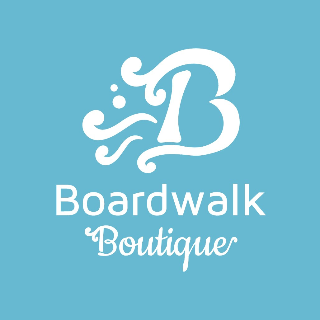 "Boardwalk Boutique is looking for a ""current"" logo for my new online retail company"