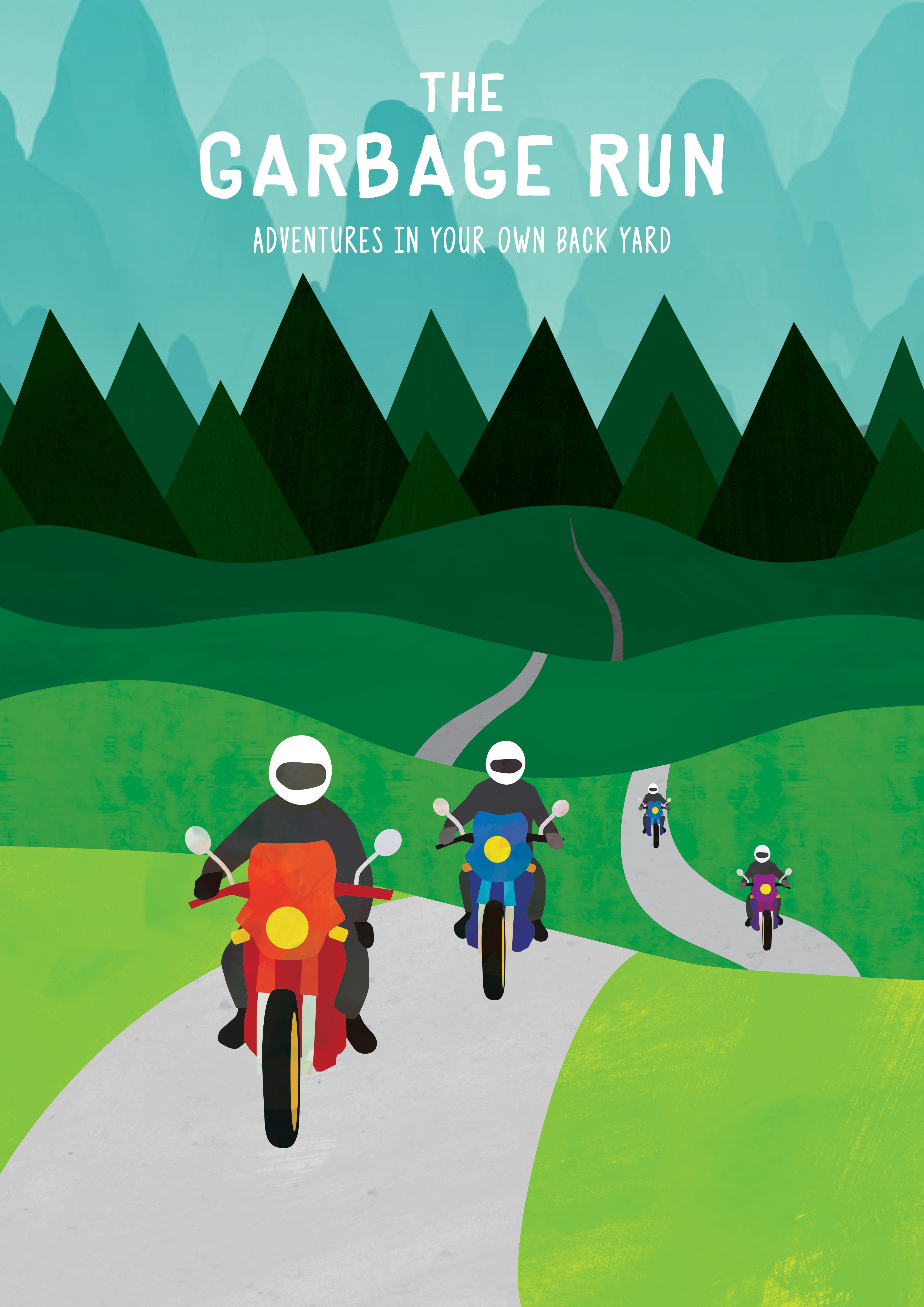 Design a catchy poster for 'The Garbage Run' motorcycle trip