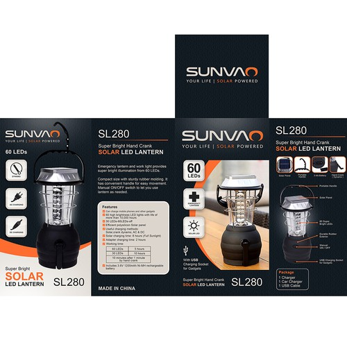 Sunvao Solar Led Lantern | BOX Packaging Design 2016